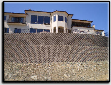picture of 22 foot terraced keystone wall in el dorado hills